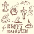 Vector illustration. The elements of Halloween. — Stock Vector
