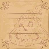 Ilustracja na halloween, dynia. — Wektor stockowy