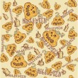 Halloween background. vector illustration. Seamless texture of pumpkin. — Stock Vector