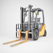 Forklift truck on white background — Stock Photo