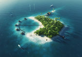 Private paradise tropical island — Stok fotoğraf