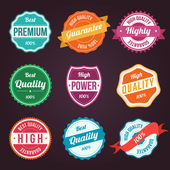 Collection of retro vintage colorful design labels — Stock Vector