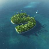 Alfabeto da ilha. ilha tropical paradisíaca, sob a forma de letra s — Foto Stock