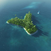 Island Alphabet. Paradise tropical island in the form of letter Y — Stock Photo