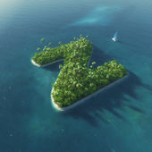 Island Alphabet. Paradise tropical island in the form of letter Z — 图库照片