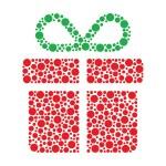 Christmas present made of circles — Stock Photo