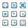 Stock Vector: Web page screen size icons set