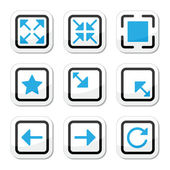 Web page screen size icons set — Stock Vector