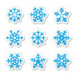 Christmas snowflakes icons set — Stock Vector