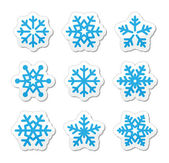Christmas snowflakes icons set — Stockvektor