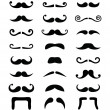 Stock Vector: Moustache icons isolated set