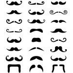 conjunto isolado de ícones de bigode — Vetorial Stock