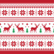 Christmas and Winter knitted seamless pattern or card with deer - scandynavian style — Stock Vector #14242585
