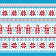 Christmas vector card - traditional knitted pattern — Stock Vector #14378183
