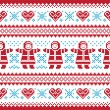 Royalty-Free Stock Vector Image: Christmas, Winter knitted pattern, card - scandynavian sweater style