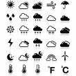 Weather icons set - vector — Stock Vector #14847995
