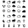 Weather icons set - vector — Stock Vector