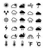 погода иконки set - вектор — Cтоковый вектор