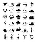 Weather icons set - vector — Stok Vektör