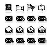 Correo electrónico buzón vector conjunto de iconos — Vector de stock