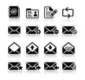 Email mailbox vector icons set — Stock Vector
