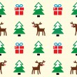 Christmas background - seamless pattern - Stock Vector