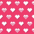 Stock Vector: Heart pink seamless background, pattern - Valentines Day