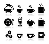 Kaffe icon set - vektor — Stockvektor
