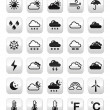 Weather forecast buttons set — Stock Vector