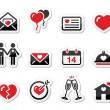 Stock Vector: Valentines Day love icons set as labels
