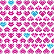 Heart pink seamless background, pattern - Valentines Day — Stock Vector