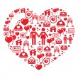 Royalty-Free Stock Imagem Vetorial: Mosaic heart card for Valentines Day - vector