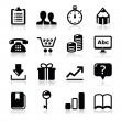 Website internet icons set - vector — Stock Vector #18472769