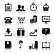 Website internet icons set - vector — Stock Vector