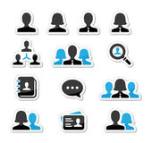 Businessman businesswoman user vector icons set — Stock Vector
