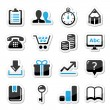 Web internet icons set - vector - Stock Vector