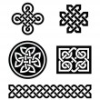 图库矢量图片: Celtic knots patterns - vector