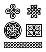 Celtic knots patterns - vector — Vettoriale Stock