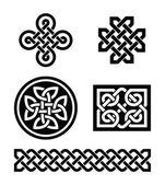 Esempi di nodi celtici - vettoriale — Vettoriale Stock