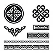 Celtic knots, braids and patterns - vector - Imagens vectoriais em stock