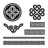 Celtic knop, flätor och mönster - vektor — Stockvektor