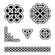 Celtic knots patterns - vector - Stok Vektr