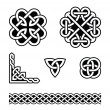 Celtic knots patterns - vector - Stock vektor