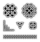 Patrones de nudos celtas - vector — Vector de stock