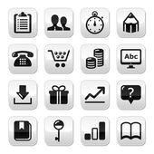 Internet düğmeleri kümesi web - vektör — Stok Vektör