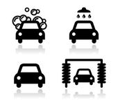 Car wash icons set - vector — Stock Vector