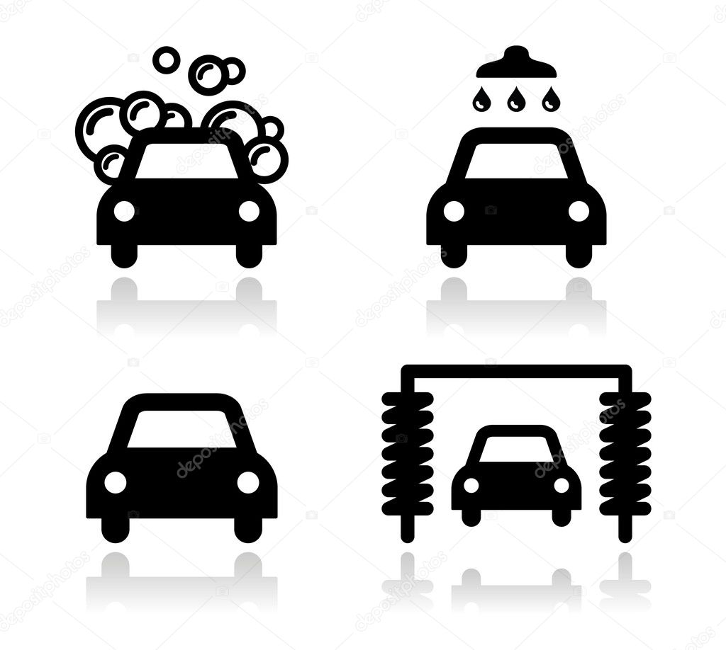 Car Vector Icon Modern black icons set with