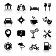 Travel tourism icons set - vector — Stock Vector #19877129