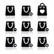 Shopping bag vector icons set — Stock Vector
