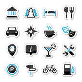 Travel tourism icons set - vector — Stock Vector
